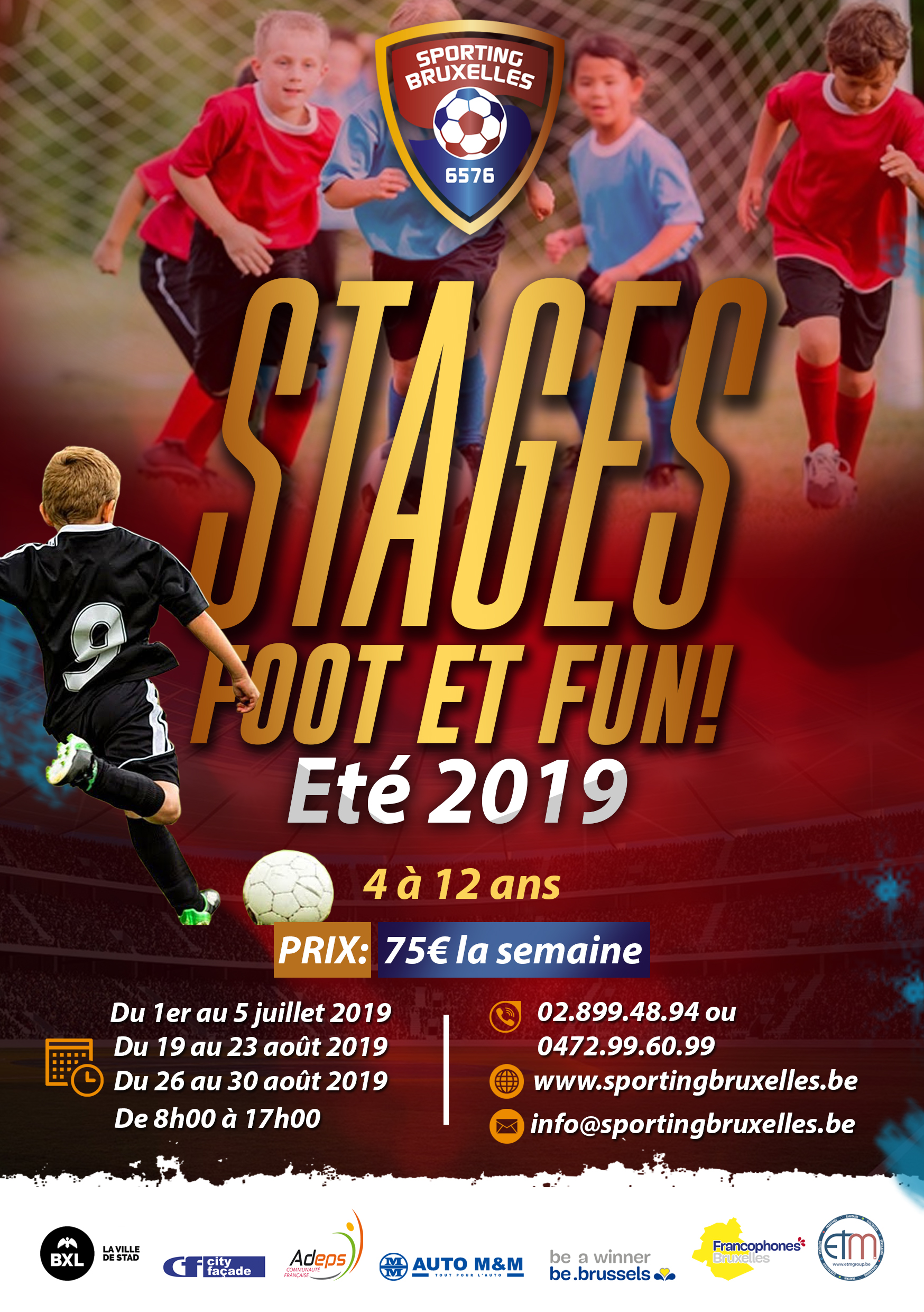 Stages foot et fun ! Eté 2019
